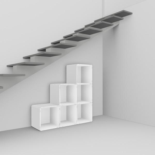 regale f r treppen und dachschr ge. Black Bedroom Furniture Sets. Home Design Ideas
