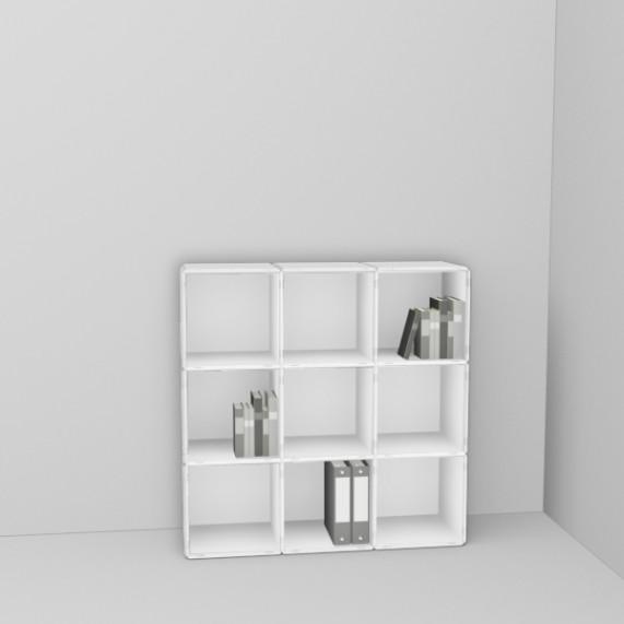 q33 Bücher- Aktenregal pure white