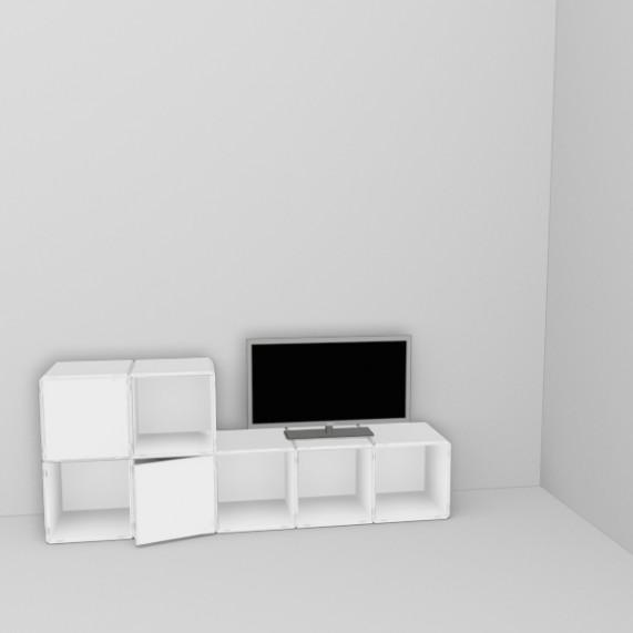 q30 TV Regal mit Türen pure white