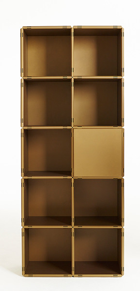 regalsystem fin kupfer gold als k chenregal b cherregal. Black Bedroom Furniture Sets. Home Design Ideas