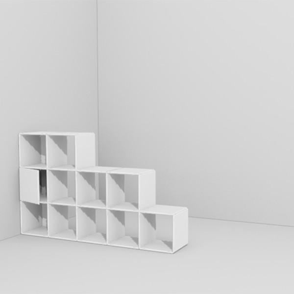 modularer raumteiler mit t ren. Black Bedroom Furniture Sets. Home Design Ideas