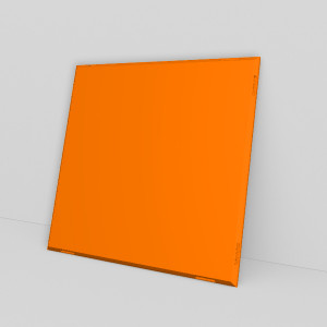 Ein 4x4 Regal besteht aus 44 Design Regalplatten in orange.