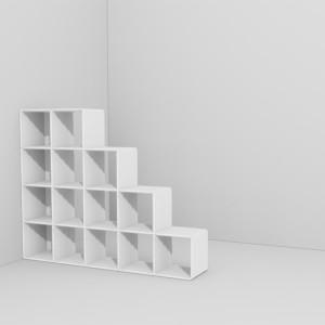 qubing Raumteiler sind auch unter Dachschrägen einsetzbar