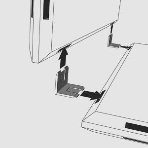 Mit den Verbindungsklippsen lassen sich die einzelnen qubing Panels zusammenstecken. Und fertig ist ihr Design Würfelregal!