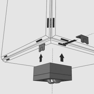 Die qubing Regalsockel lassen sich an das modulare Regal stecken und machen Ihr Regalsystem beweglich.