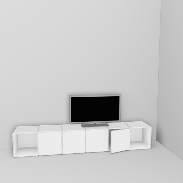 tv regal modular und erweiterbar i. Black Bedroom Furniture Sets. Home Design Ideas