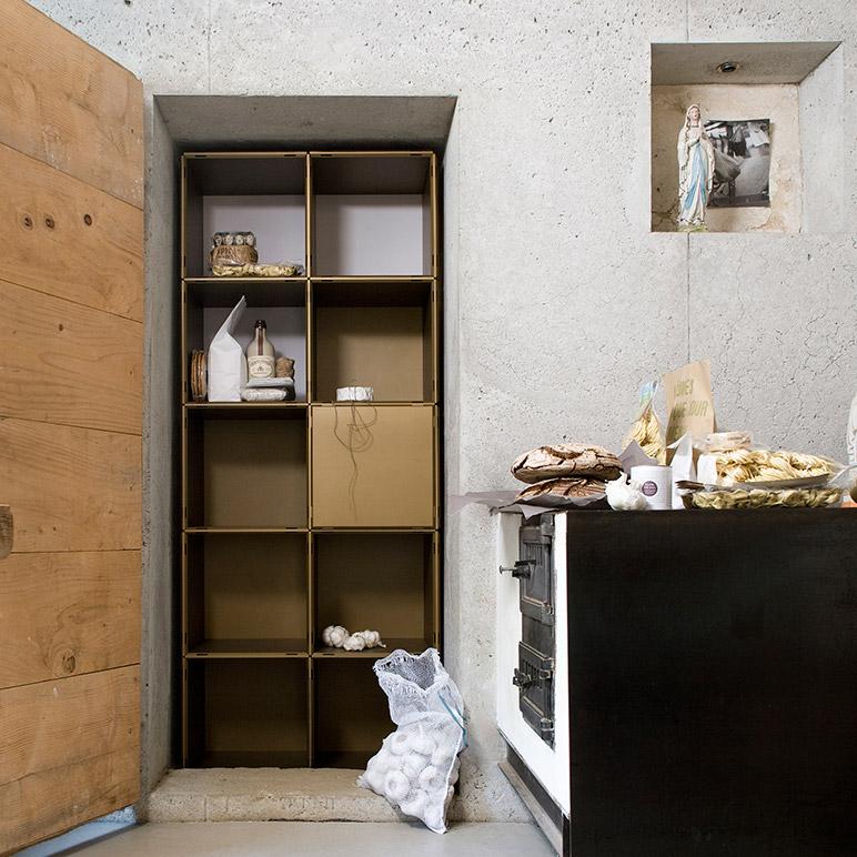 Kücheneinrichtung in gold für Nischen und Ecken
