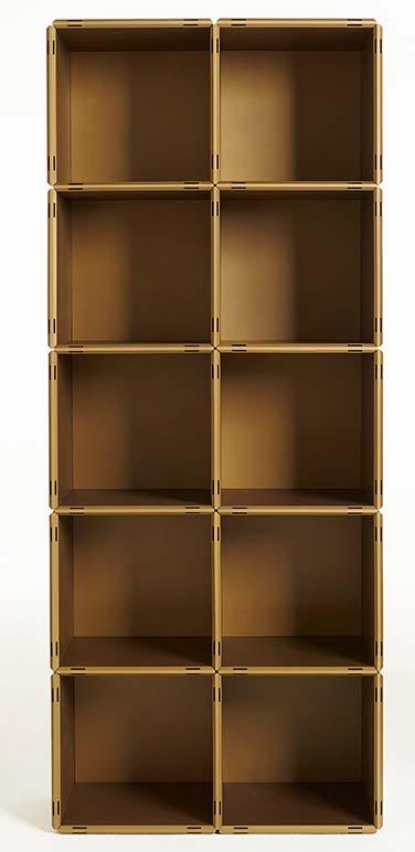 Würfelregal als Bücherturm im qubing Design