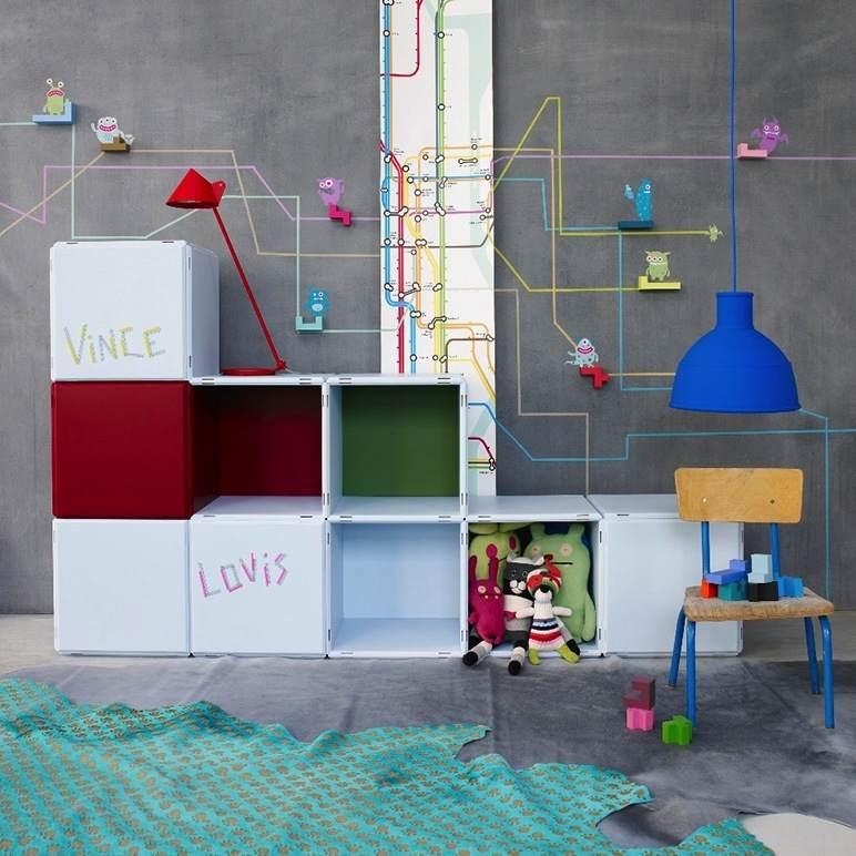 Kinderzimmer Regale vielseitig und modular
