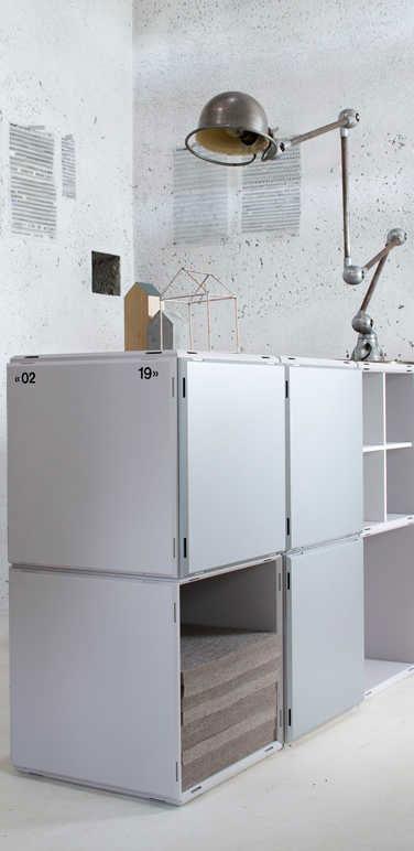 qubing bookshelf with doors
