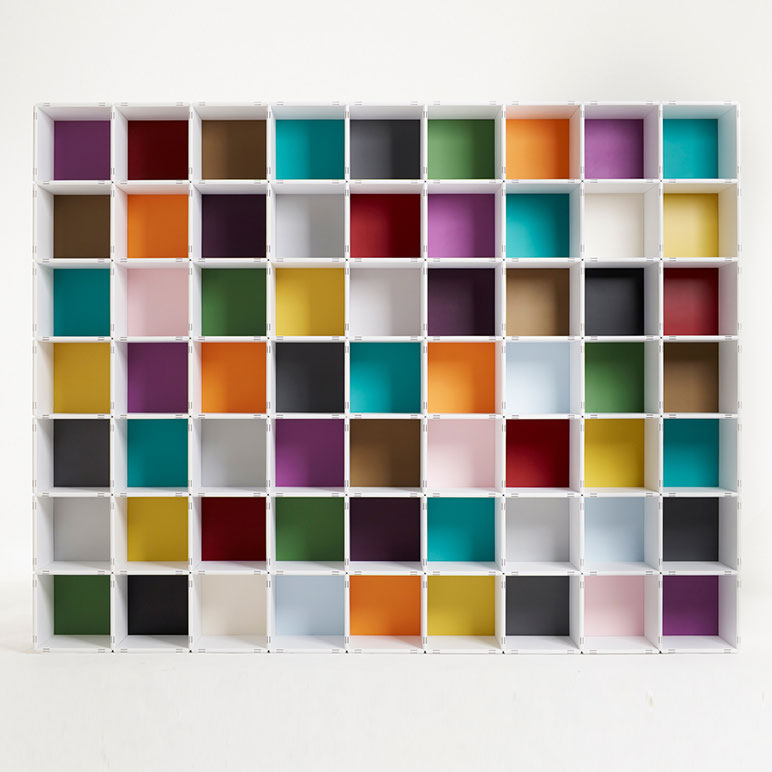 qubing shelves – as colourful as you want